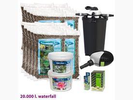 Štartovací balík pre jazierko do  20m3 s vodopádom