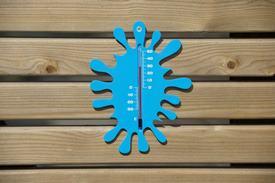 Teplomer nástenný plastový modrý / 6080093