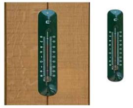 Teplomer nástenný, kovový, zelený / 6080065