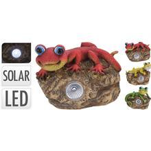 Solárne svetlo jašterica na kameni / CR 242716