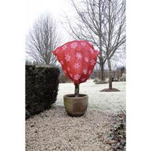 Jutové vrece so zimným vzorom červené / 6030112