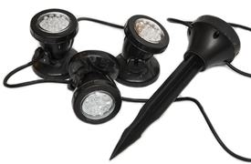 3 lampy + senzor pre fontány