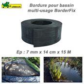 Flexibilný okraj jazierka a záhonu v rolke, hrúbka 7 mm, výška 14  cm / 1330100